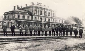 Historisches Bild vom Bahnhof in Kirchenlaibach