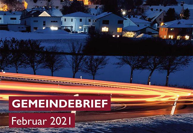 Titelbild des Gemeindebriefs Februar 2021