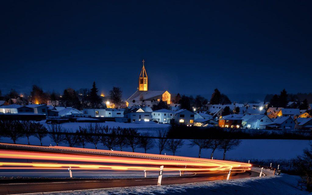 Kirchenlaibach bei Nacht
