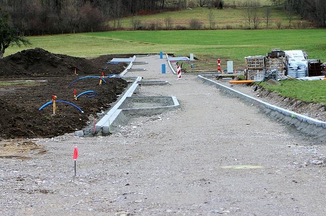 Beginn der Arbeiten im Neubaugebiet