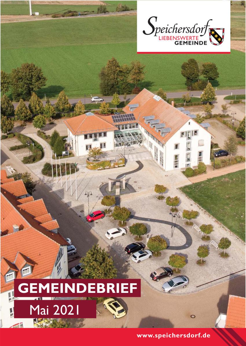 Cover des Gemeindebriefs Mai 2021 der Gemeinde Speichersdorf